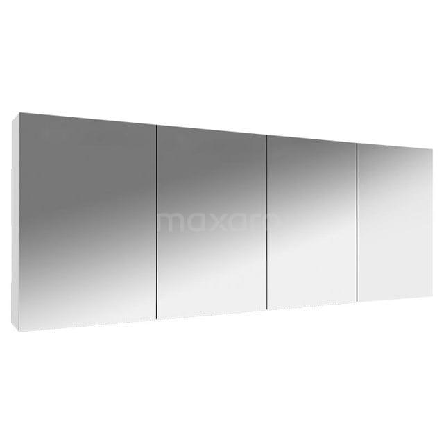 Spiegelkast Lato 180x62cm Hoogglans Wit 4 Deuren K01-1800-40400