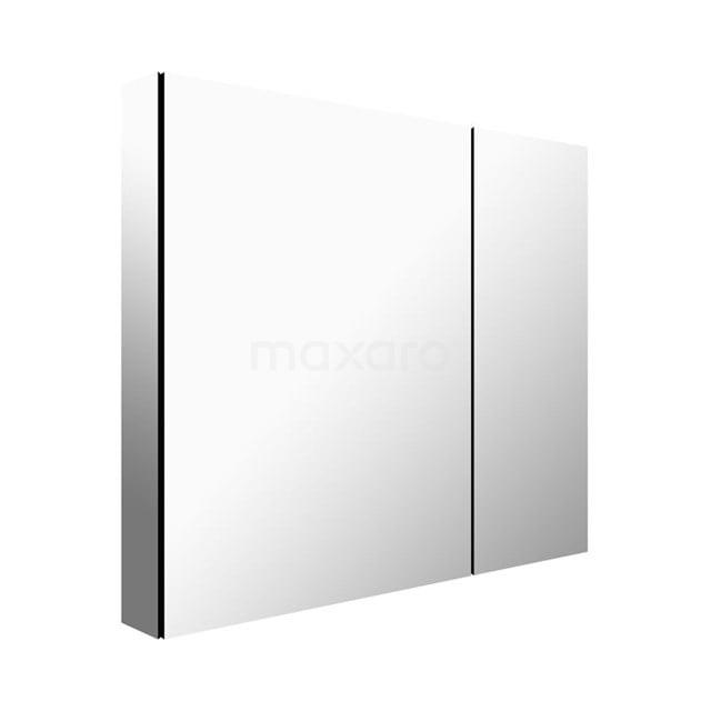 Spiegelkast Mio 75x66cm Aluminium 2 Deuren K03-0750-45605