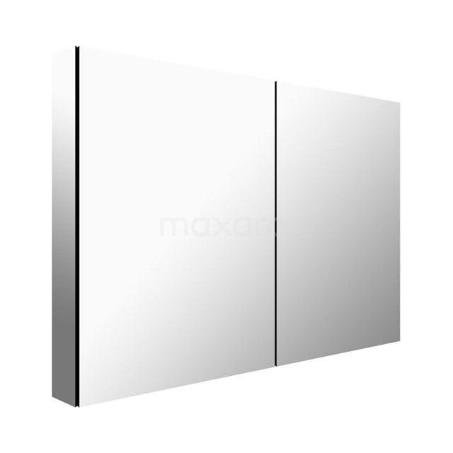 Spiegelkast Mio 100x66cm Aluminium 2 Deuren K03-1000-45605