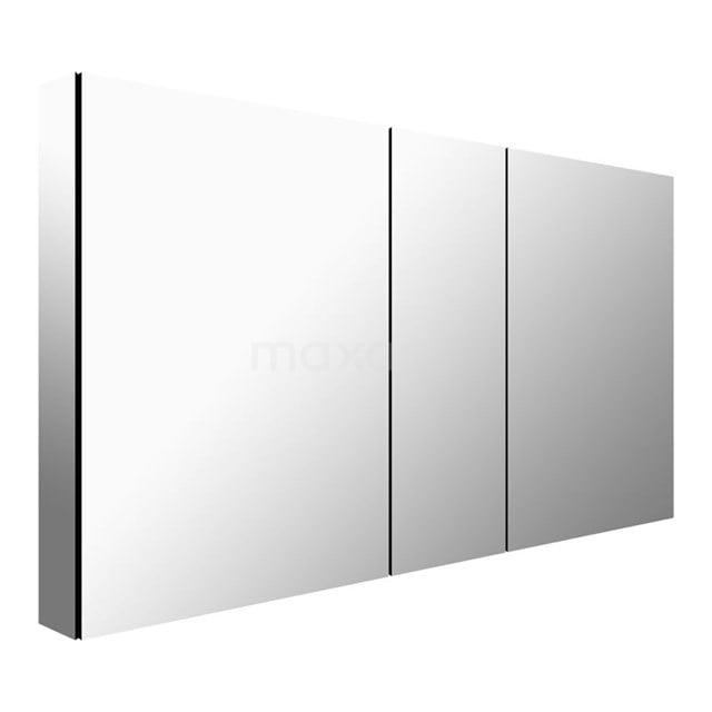 Spiegelkast Mio 125x66cm Aluminium 3 Deuren K03-1250-45605