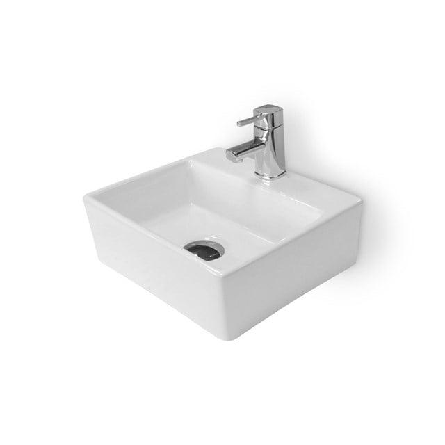 Fonteintje WC Clasico Keramiek Wit met Kraangat K110-1100