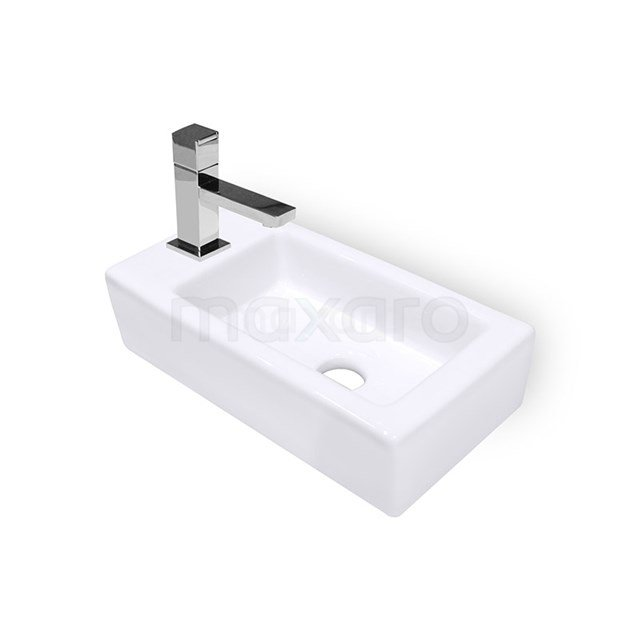 Fonteintje WC Clasico Keramiek Wit Kraangat Links K110-1160