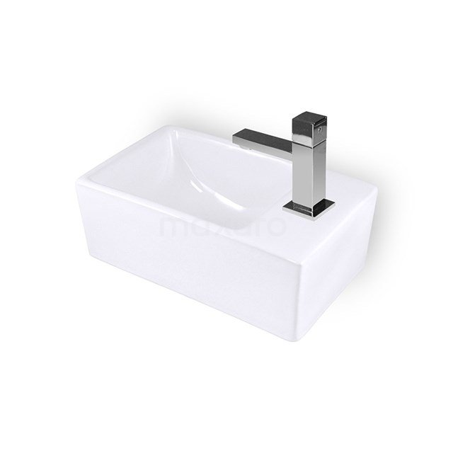 Fonteintje WC Clasico Keramiek Wit Kraangat Rechts K110-1175