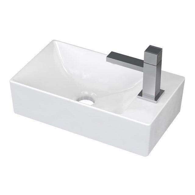 Fonteintje WC Clasico Keramiek Wit Kraangat Rechts K110-1177
