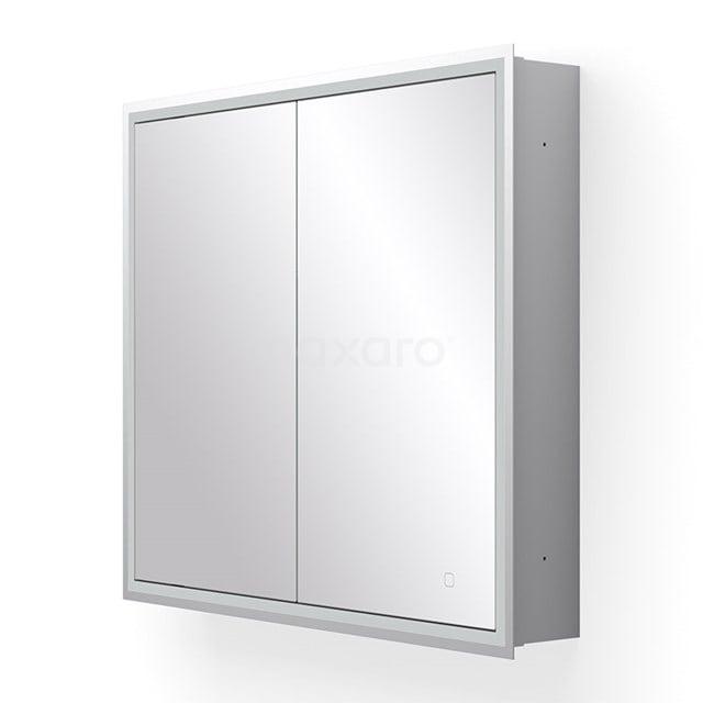 Inbouw Spiegelkast met Verlichting Trento 80x70cm Spiegelverwarming en Stopcontact K40-0800-55504