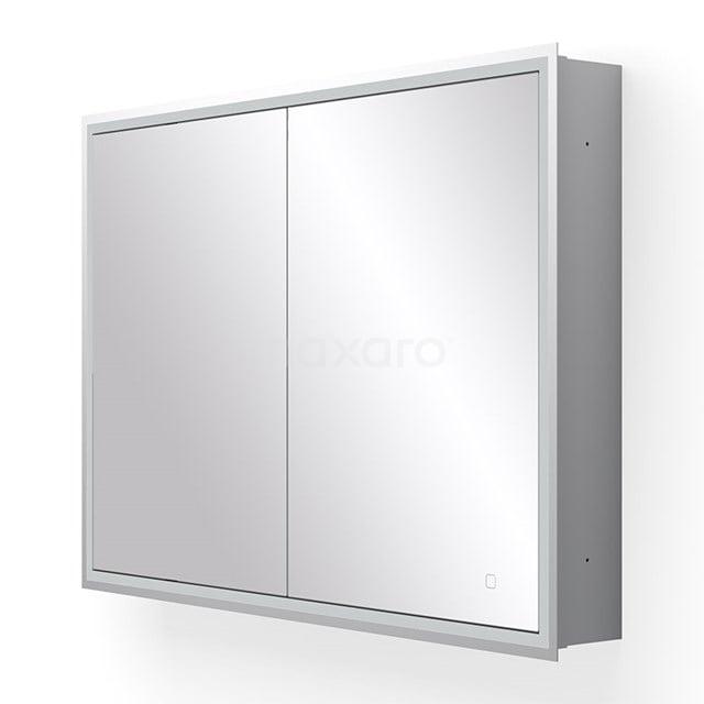 Inbouw Spiegelkast met Verlichting Trento 100x70cm Spiegelverwarming en Stopcontact K40-1000-55504