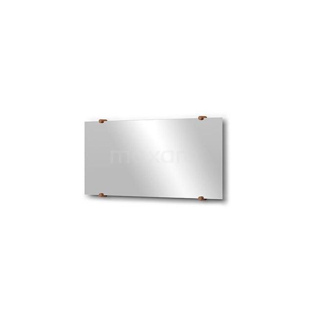 Badkamerspiegel Solo 70x30cm Spiegelhouders Rond Koper M01-030720KP