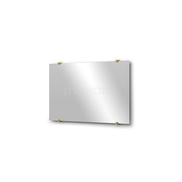 Badkamerspiegel Solo 70x40cm Spiegelhouders Rond Goud M01-040720GG