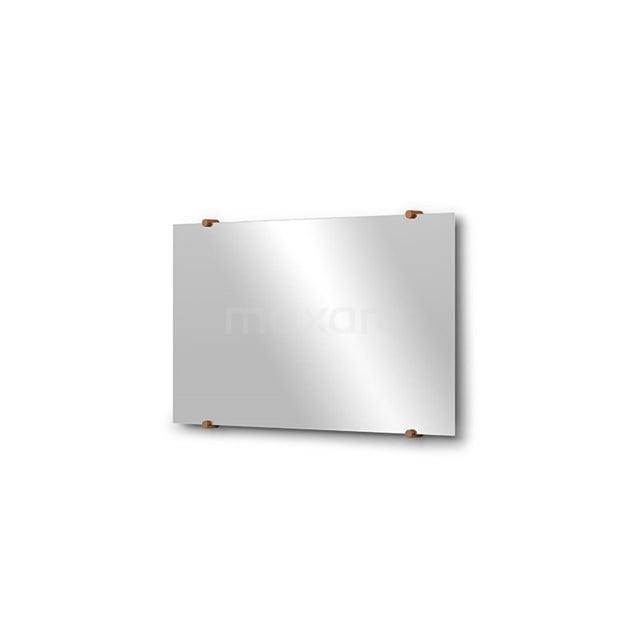 Badkamerspiegel Solo 70x40cm Spiegelhouders Rond Koper M01-040720KP