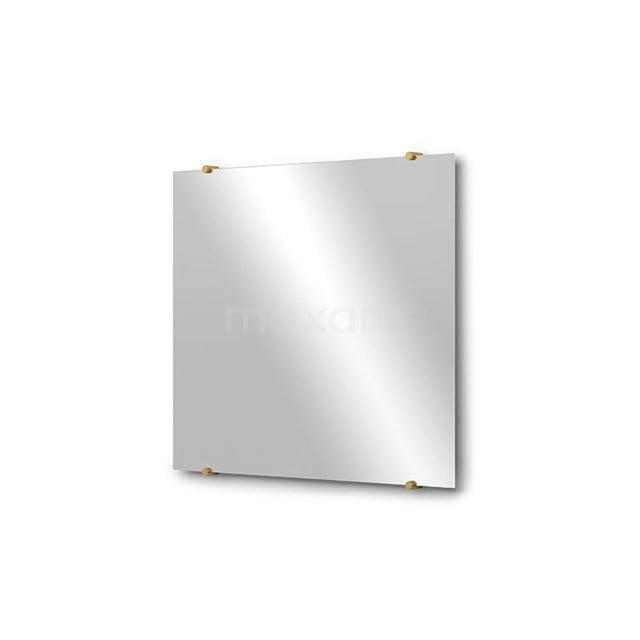 Badkamerspiegel Solo 70x60cm Spiegelhouders Rond Goud M01-060720GG