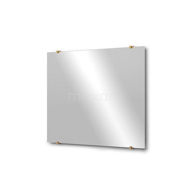 Badkamerspiegel Solo 80x60cm Spiegelhouders Rond Goud M01-080620GG