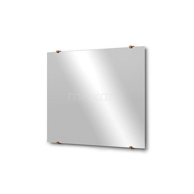 Badkamerspiegel Solo 80x60cm Spiegelhouders Rond Koper M01-080620KP