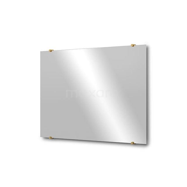 Badkamerspiegel Solo 90x60cm Spiegelhouders Rond Goud M01-090620GG