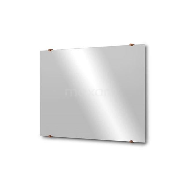 Badkamerspiegel Solo 90x60cm Spiegelhouders Rond Koper M01-090620KP