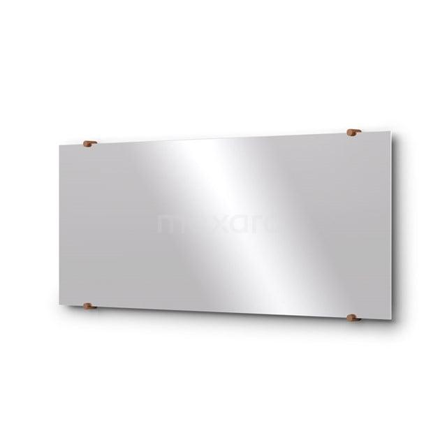 Badkamerspiegel Solo 100x40cm Spiegelhouders Rond Koper M01-100420KP