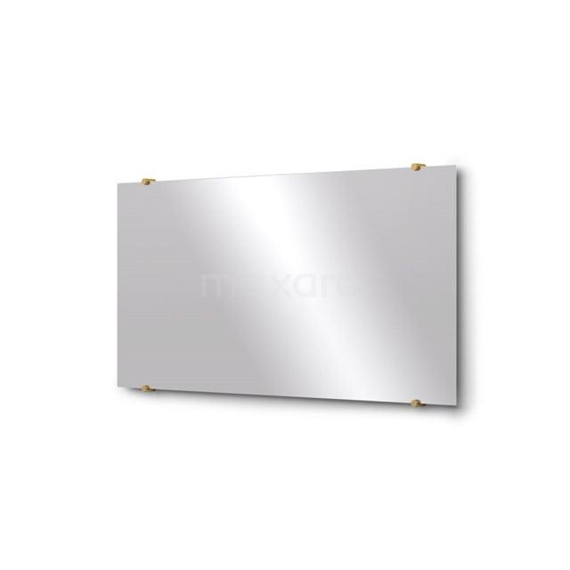 Badkamerspiegel Solo 100x50cm Spiegelhouders Rond Goud M01-100520GG