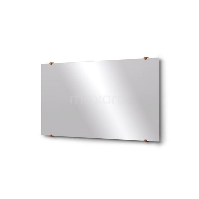 Badkamerspiegel Solo 100x50cm Spiegelhouders Rond Koper M01-100520KP