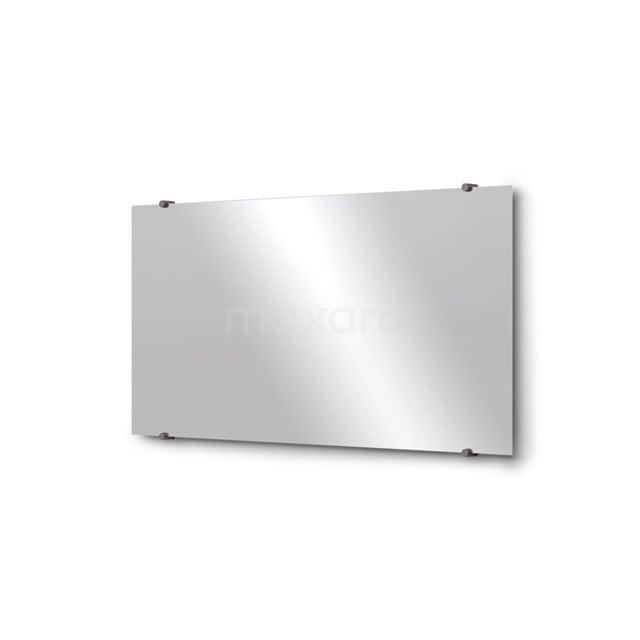 Badkamerspiegel Solo 100x50cm Spiegelhouders Rond Zwart Metaal M01-100520ZM