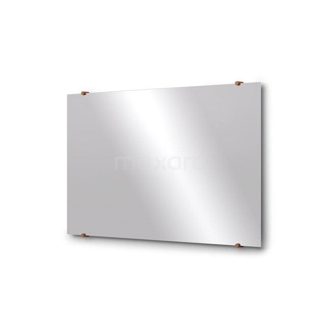 Badkamerspiegel Solo 100x60cm Spiegelhouders Rond Koper M01-100620KP