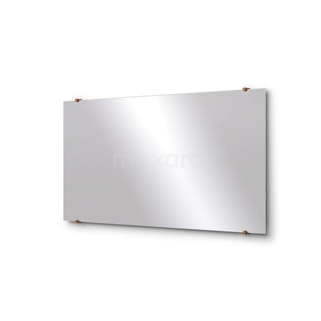 Badkamerspiegel Solo 120x60cm Spiegelhouders Rond Koper M01-120620KP