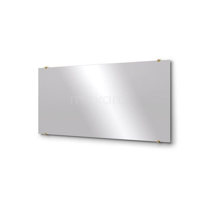 Badkamerspiegel Solo 140x60cm Spiegelhouders Rond Goud M01-140620GG