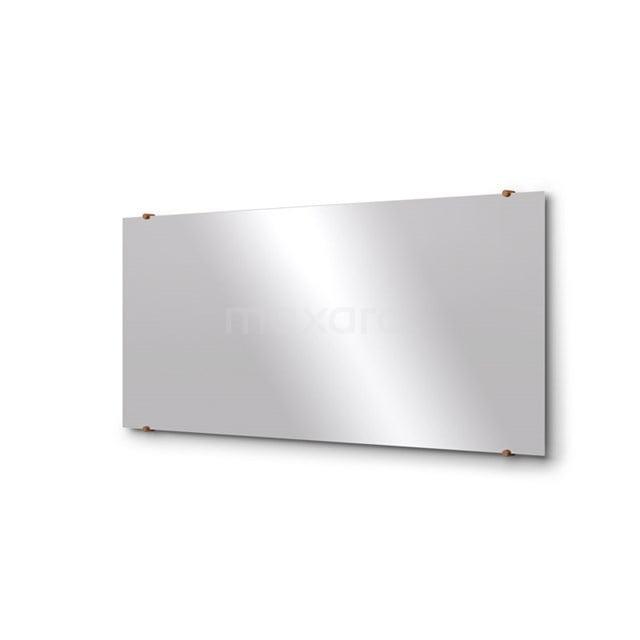 Badkamerspiegel Solo 140x60cm Spiegelhouders Rond Koper M01-140620KP