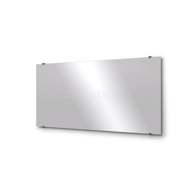 Badkamerspiegel Solo 140x60cm Spiegelhouders Rond Zwart Metaal M01-140620ZM