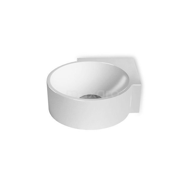 Hoekfontein WC Mintra Mineraalmarmer Glanzend Wit Zonder Kraangat M110-0020
