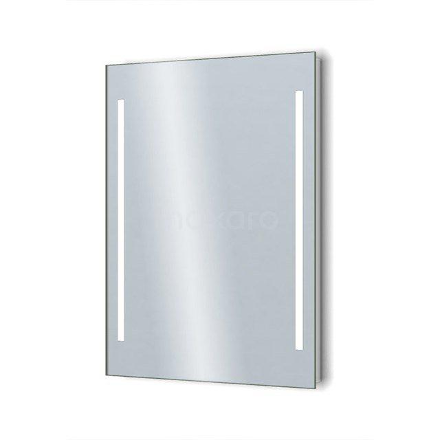 Badkamerspiegel met LED Verlichting 60x75cm Dimmer en Stopcontact M34-0600-55671