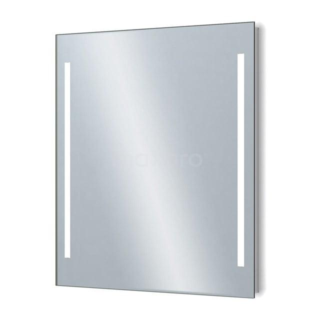 Badkamerspiegel met LED Verlichting Novo 70x75cm Dimmer en Stopcontact M34-0700-55671