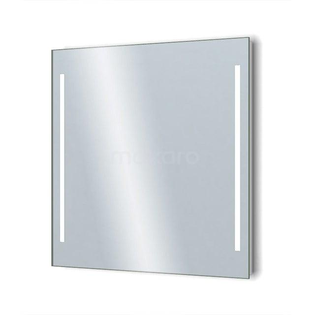 Badkamerspiegel met LED Verlichting Novo 80x75cm Dimmer en Stopcontact M34-0800-55671