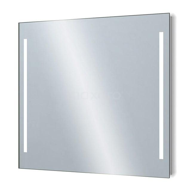 Badkamerspiegel met LED Verlichting 90x75cm Dimmer en Stopcontact M34-0900-55671