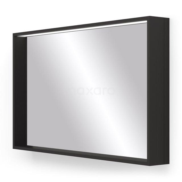Badkamerspiegel Preto Zwart met LED Verlichting 100x60cm M50-1000-40100