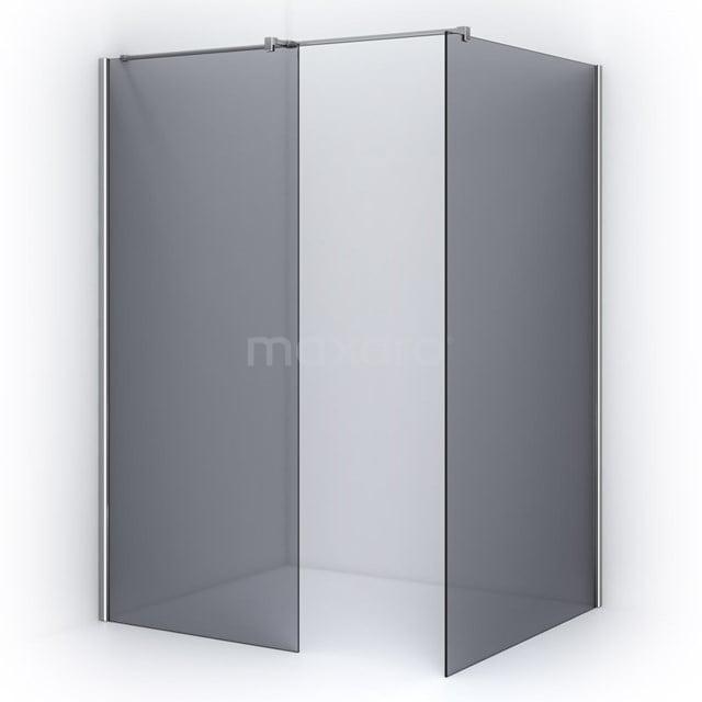 Inloopdouche 100x90cm Rookglas Veiligheidsglas 8mm Chroom IPB0910401C