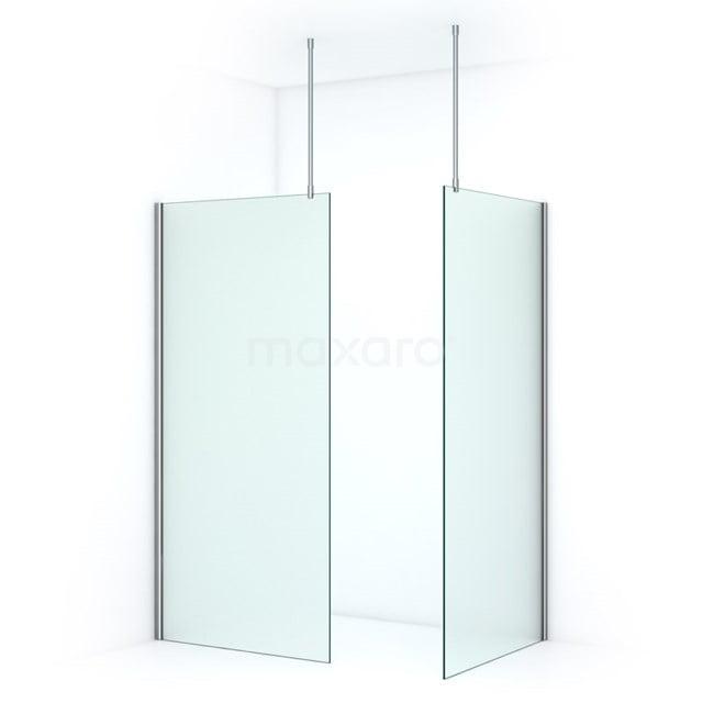 Inloopdouche Pearl 100x100cm Matglas Veiligheidsglas 8mm Chroom IPB1010707C