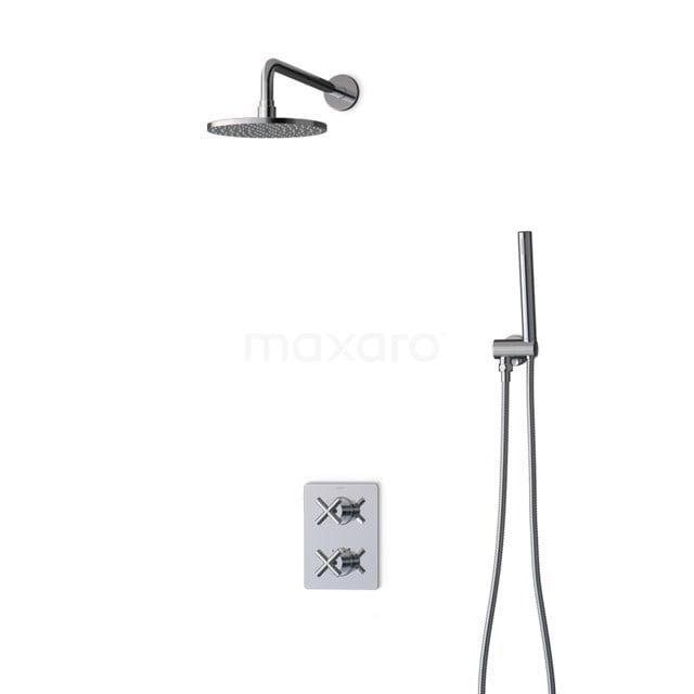 Inbouw Regendoucheset Iconic Chrome, Thermostaatkraan, 20cm Hoofddouche, Chroom BIC90-00001
