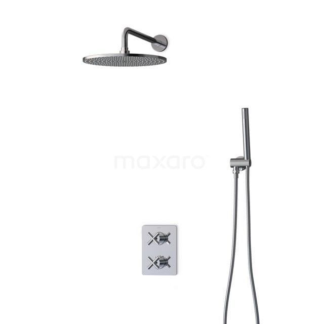 Inbouw Regendoucheset Iconic Chrome, Thermostaatkraan, 30cm Hoofddouche, Chroom BIC90-00003