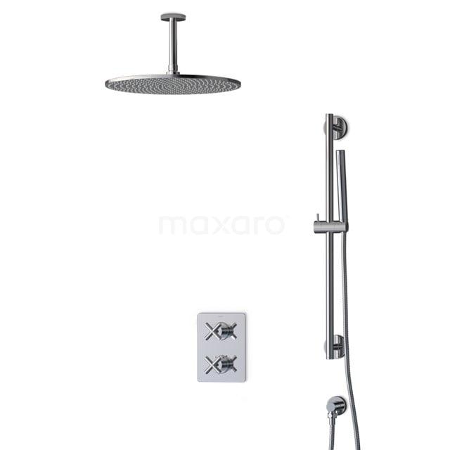 Inbouw Regendoucheset Iconic Chrome, Thermostaatkraan, 35cm Hoofddouche, Chroom BIC90-00014