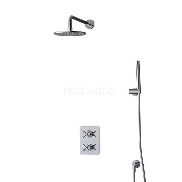 Inbouw Regendoucheset Iconic Chrome, Thermostaatkraan, 20cm Hoofddouche, Chroom BIC90-00015