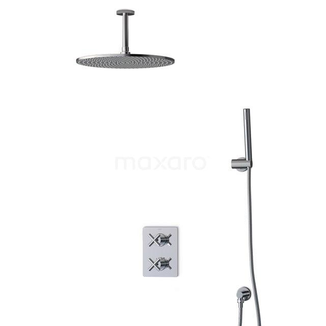 Inbouw Regendoucheset Iconic Chrome, Thermostaatkraan, 35cm Hoofddouche, Chroom BIC90-00021