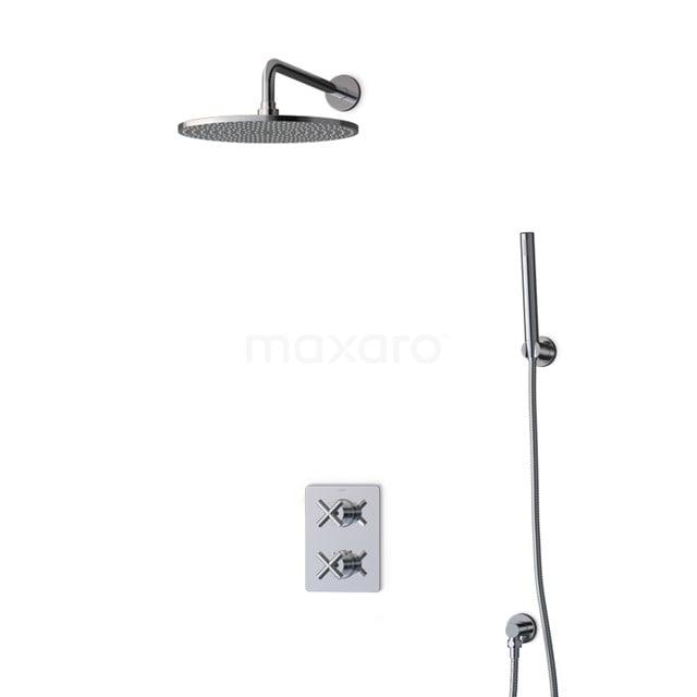 Inbouw Regendoucheset Iconic Chrome, Thermostaatkraan, 30cm Hoofddouche, Chroom BIC90-00024