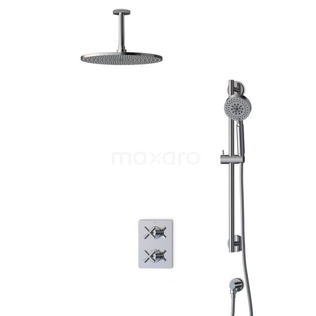 Inbouw Regendoucheset Iconic Chrome, Thermostaatkraan, 30cm Hoofddouche, Chroom BIC90-00083