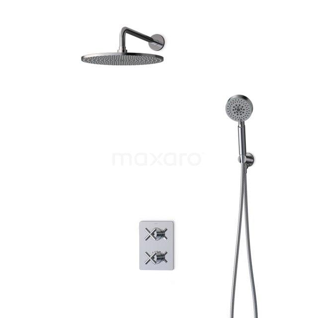 Inbouw Regendoucheset Iconic Chrome, Thermostaatkraan, 30cm Hoofddouche, Chroom BIC90-00101