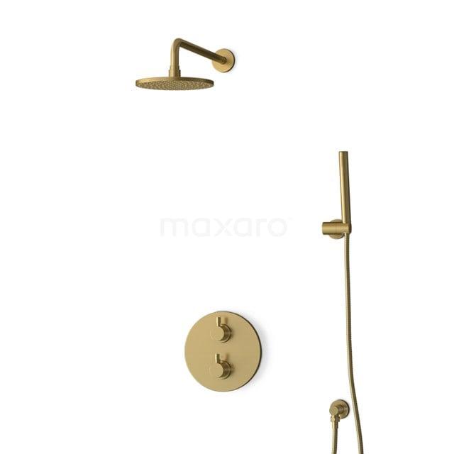 Inbouw Regendoucheset Radius Gold, Thermostaatkraan, 20cm Hoofddouche, Goud BIG55-00003