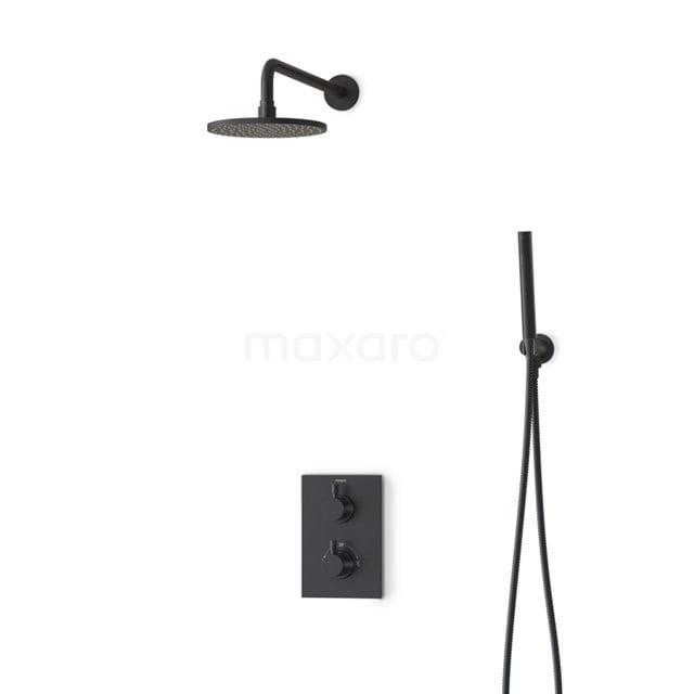Regendouche Set Radius Black 20cm Inbouw Thermostaat Zwart BIZ55-00002