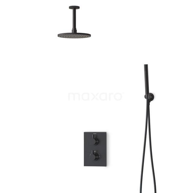 Regendouche Set Radius Black 20cm Inbouw Thermostaat Zwart BIZ55-00008