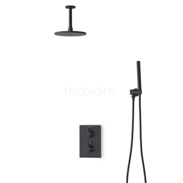 Regendouche Set Radius Black 20cm Inbouw Thermostaat Zwart BIZ55-00020
