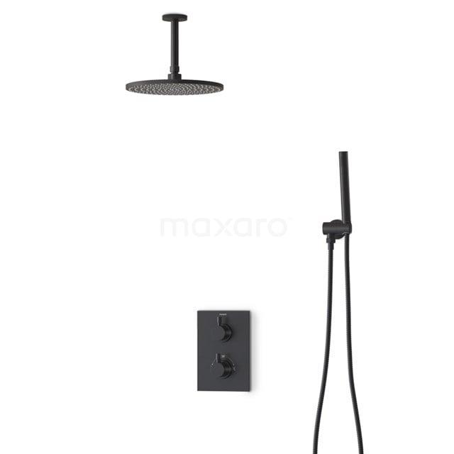 Regendouche Set Radius Black 25cm Inbouw Thermostaat Zwart BIZ55-00023