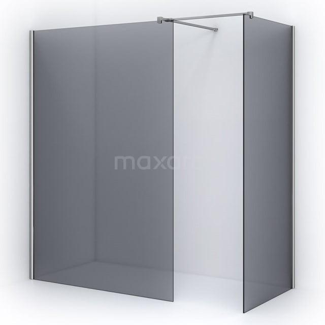 Inloopdouche 140x90cm Rookglas Veiligheidsglas 8mm Chroom IPB1409501C