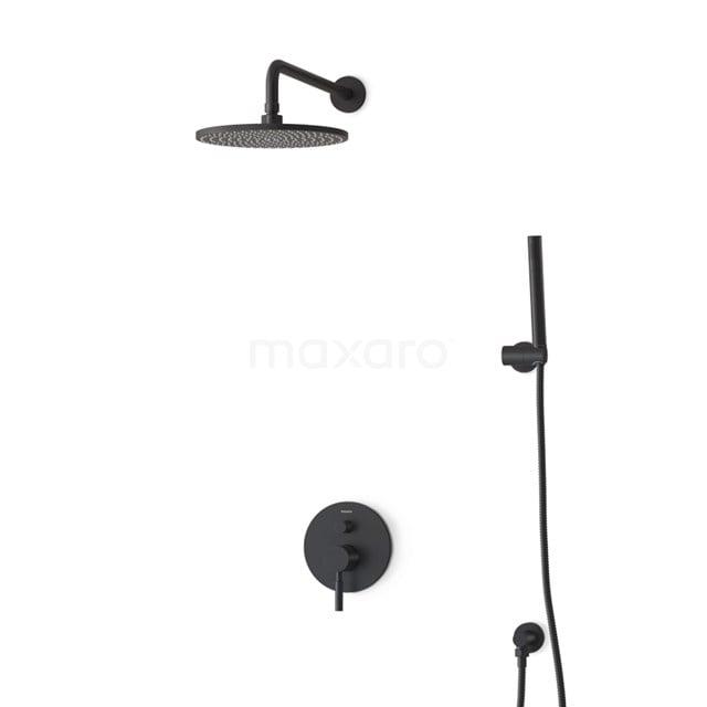 Regendouche Set Radius Black 25cm Inbouw Eéngreeps Zwart BIZ55-00030